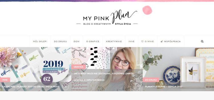 Kreatywne blogi - My Pink Plum