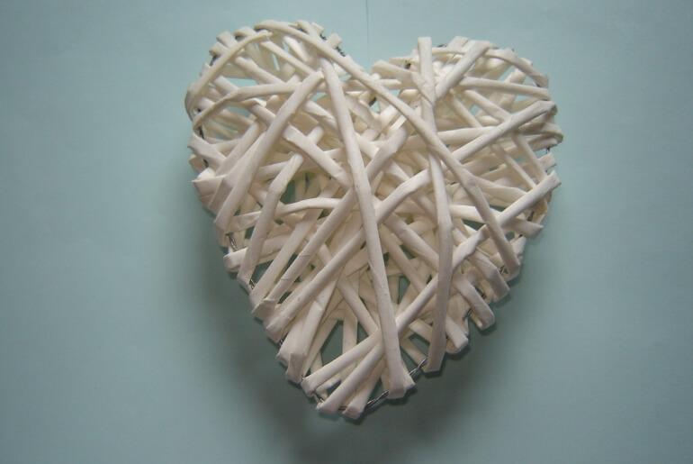 Serce z wikliny papierowej DIY