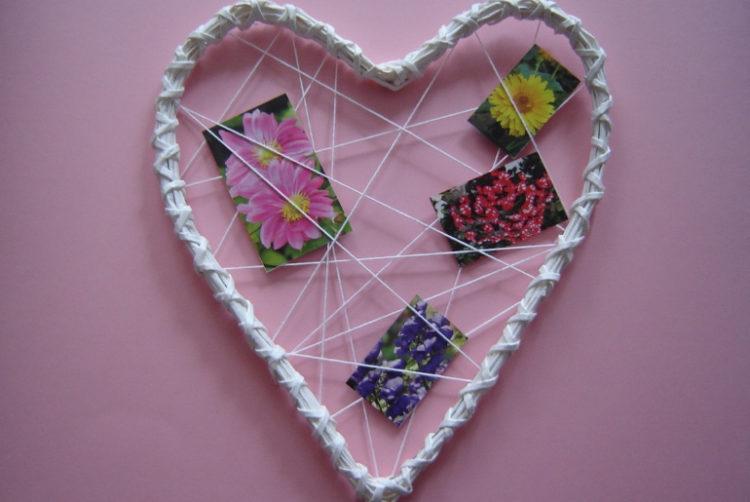 Ramka na zdjęcia ze sznurkami DIY