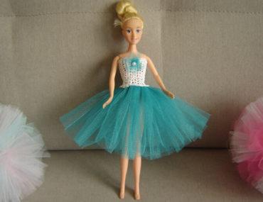 Tiulowe tutu dla lalki Barbie