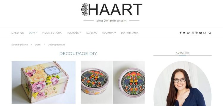 Kreatywne blogi - Haart