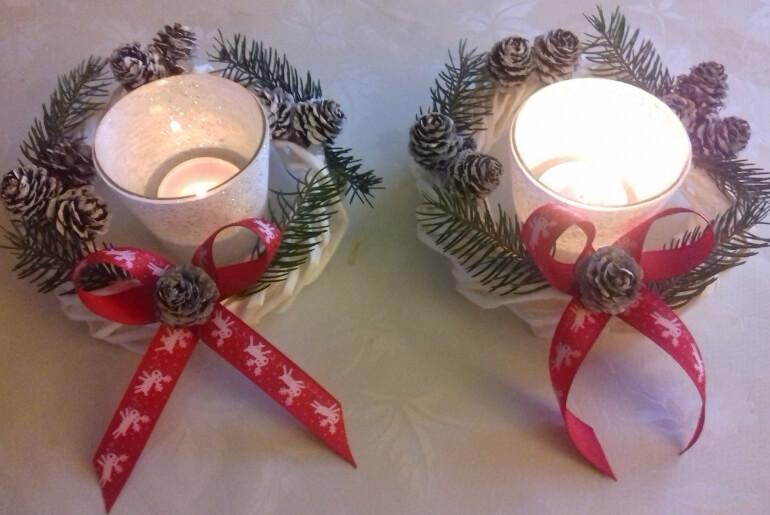 Wianki z wikliny papierowej na świąteczny stół