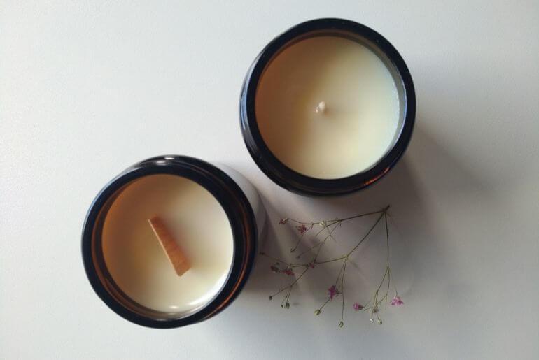 Dwie świeczki sojowe