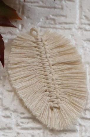 Makramowy liść krok po kroku
