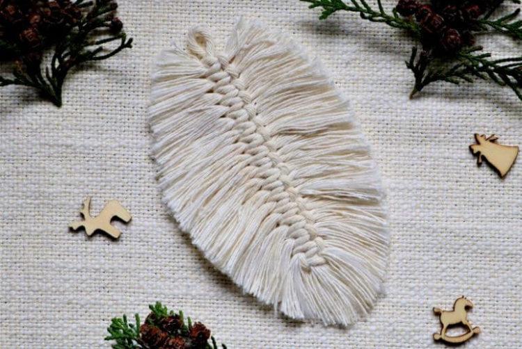 Makramowy liść krok po kroku – prosta dekoracja ze sznurka
