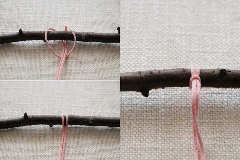 Podstawowe węzły makramy - węzeł mocujący
