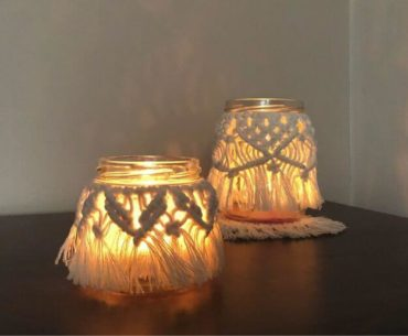 Lampion z makramy