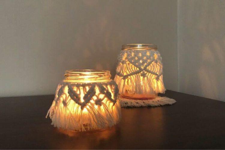 Lampion z makramy – jesienna dekoracja boho w 30 minut